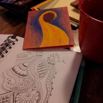 Sketch, Pencil and Conte Crayon, Felicia Follum