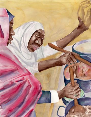 Eid, Watercolor, $475