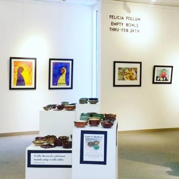 Felicia Follum Solo Exhibition (with Empty Bowls Fundraiser)